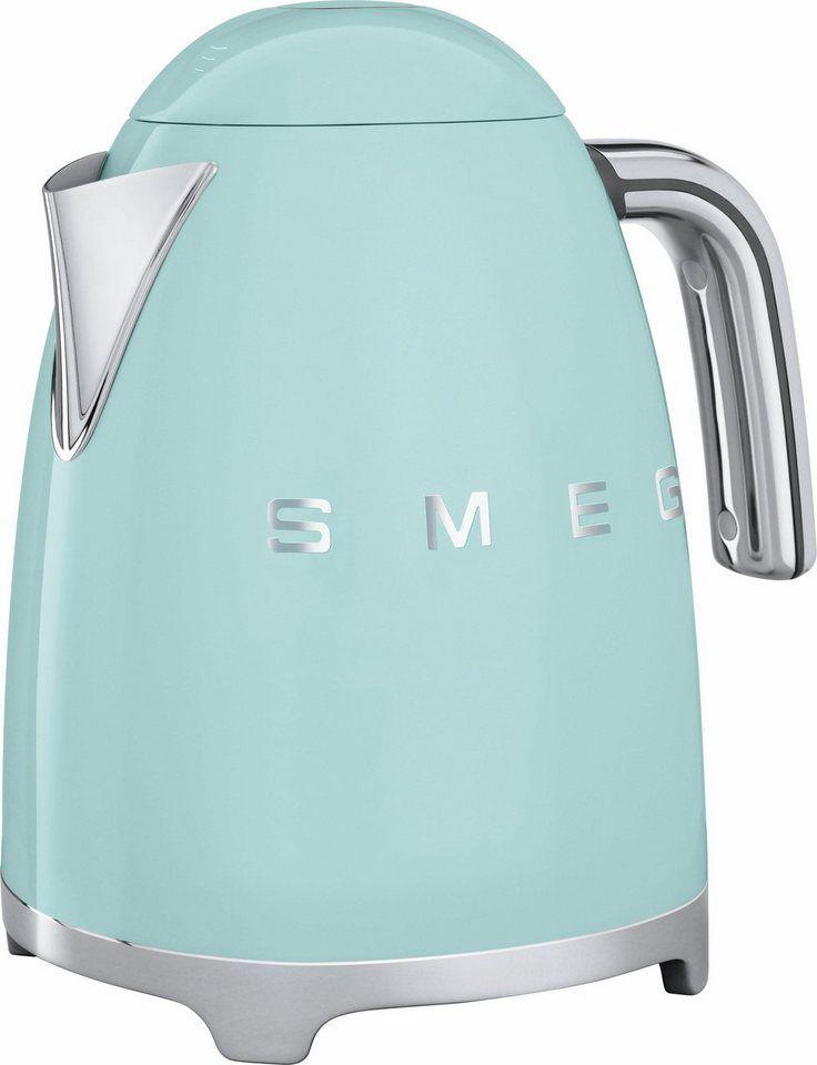 Smeg Wasserkocher KLF01PGEU, 1,7 Liter, 2400 Watt, Pastellgrün