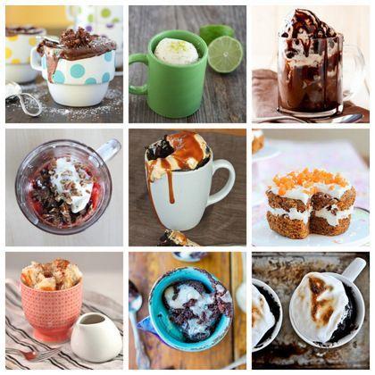 20 desserts en mug au micro onde 20 Desserts to Make in Your Microwave