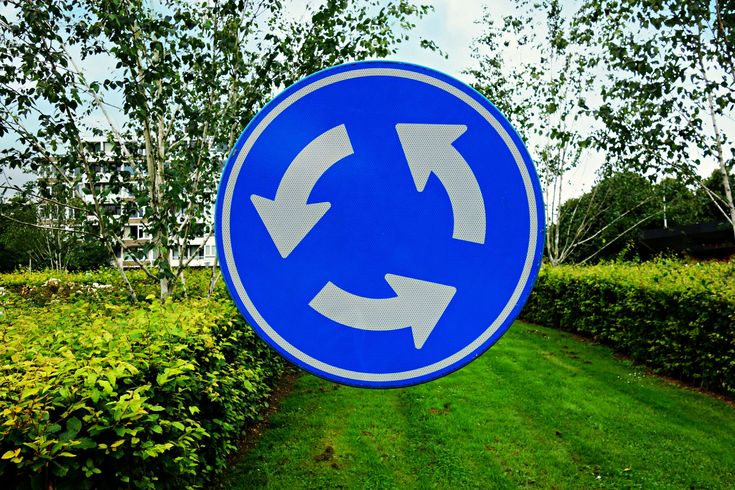 #arrow #direction #holland #round #roundabout #roundabout traffic sign #symbol #traffic sign