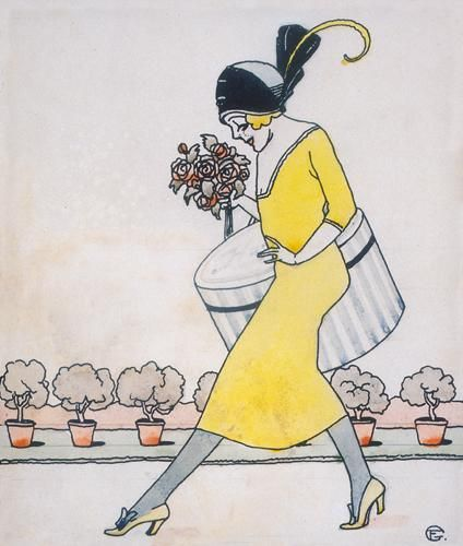<<=>> FARAGÓ GÉZA (1877-1928) Hungarian artist and illustrator Geza Farago worked in Budapest as a cartoonist, theatrical costume designer and poster artist.