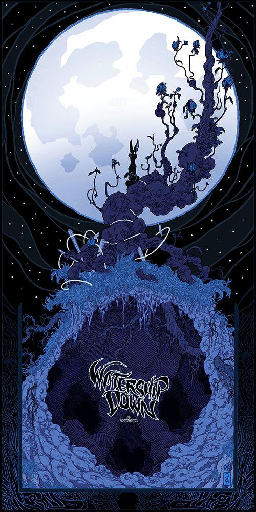 "Black Dragon Press Announces Absolutely Stunning ""Watership Down"" Prints By Artist Peter Diamond | moviepilot.com"