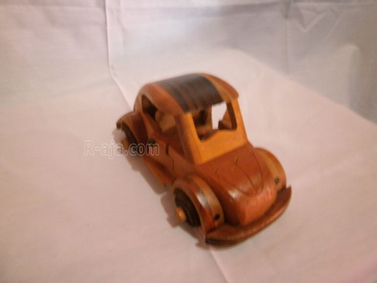Handicraft Miniature Wooden Cars VolksWagen (VW) made of Wood.