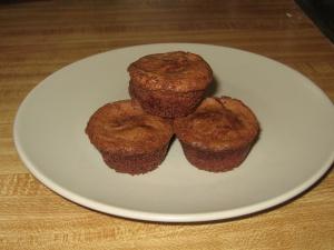 Mini brownie expresso cupcakes