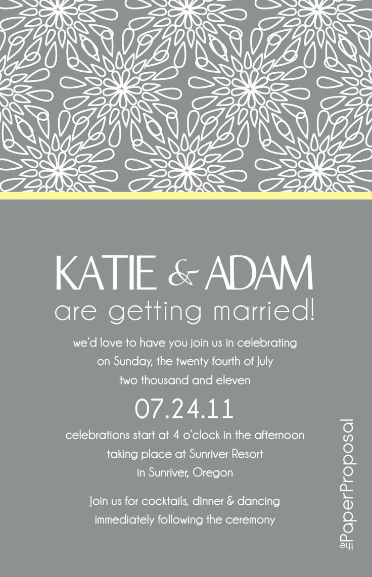 Modern Wedding Invitation Poems : Modern Bloom Wedding Invitation --- --- just needs a mobile version ...