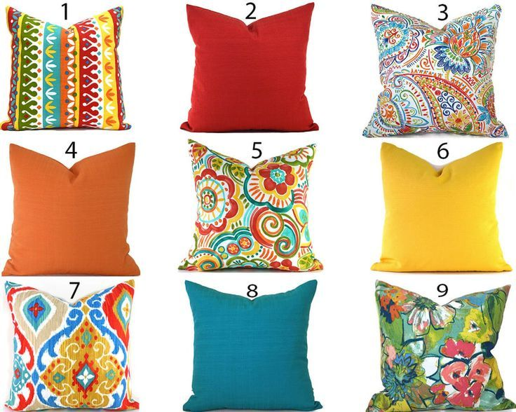 Outdoor Pillow Covers Any Size Decorative Home Decor Burnt Orange Red Turquoise Blue Yellow Designer Throw Pillows You Choose Outdoor Outdoor Pillow Covers Designer Throw Pillows Turquoise Pillows