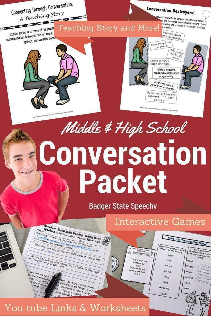 Social Language Conversation Skills For Middle And High