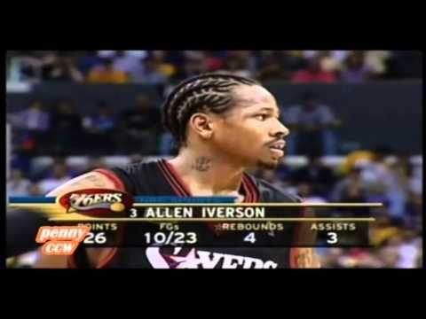Allen Iverson 48pts vs Kobe Shaq Lakers 2001 NBA Finals Game 1 - pennyccw
