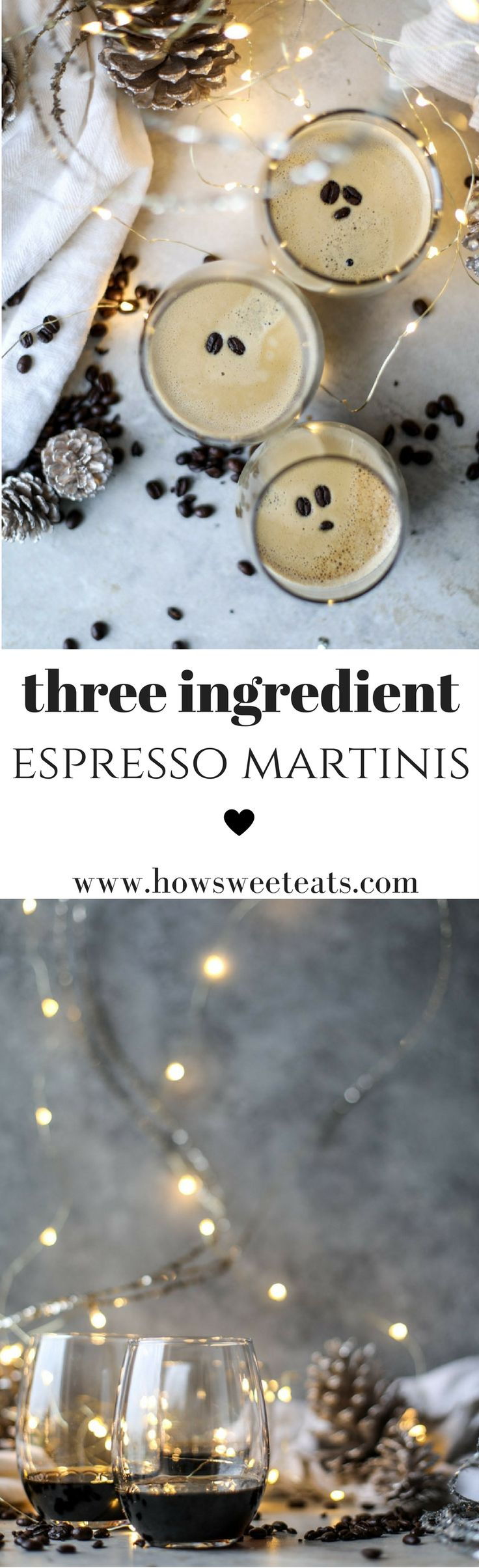 3 ingredients Espresso Martinis! Warming to the soul. I howsweeteats.com by @howsweeteats