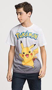 Shirt met korte mouwen in multicolour print