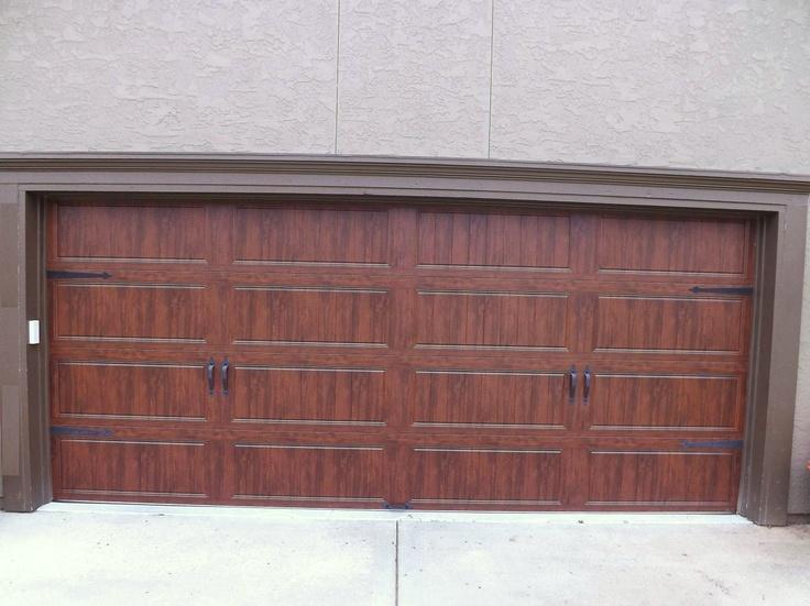 clopay gallery garage door - ultra grain walnut oak - wrought iron arched windows - parkville & 134 best Aker Doors - Carriage House Doors images on Pinterest ... pezcame.com