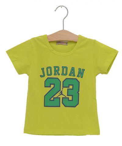 BT38007-3 - Áo thun bé trai Jordan 23 màu xanh lá (7 size, 3 màu)