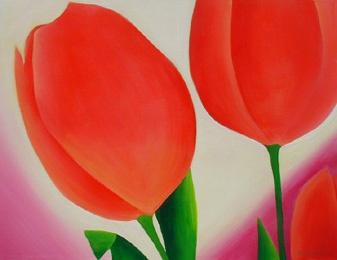 Fusia Tulips