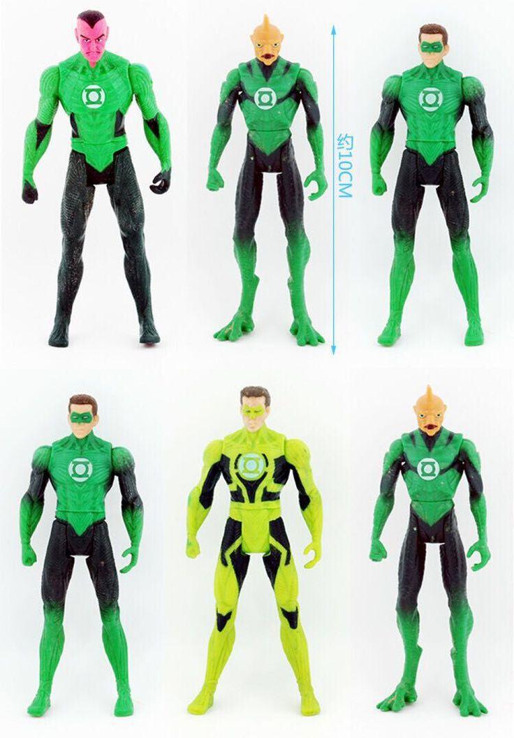 10cm 6pcs/lot original anime figure the avenger Green Lantern action figure set collectible model toys for boys #Affiliate