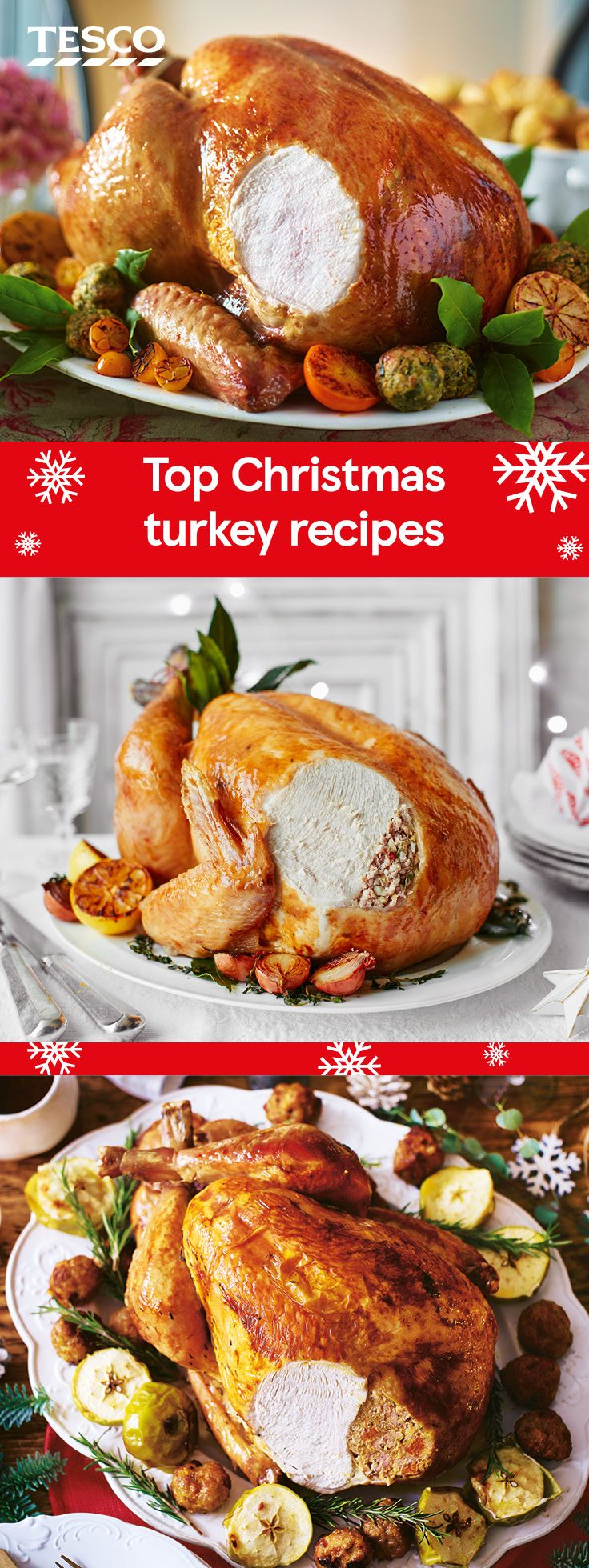 Make sure to keep your roast turkey moist and juicy with one of these festive stuffings. Whatever the size and joint of your bird, whether you prefer traditional ingredients or are keen to experiment with seasonal alternatives, these stuffing ideas are a sure-fire flavour hit for your Christmas Dinner. | Tesco