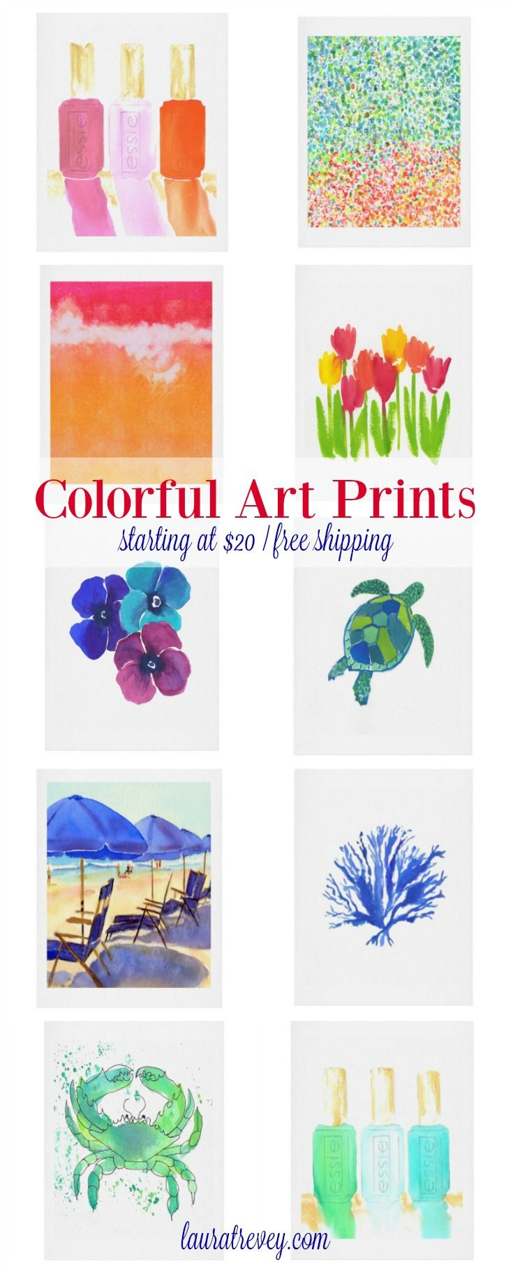 New! These colorful art prints are available in four standard sizes {8x10, 11x14, 16x20, 18x24} so they are super easy to frame. Build Your Gallery Wall.