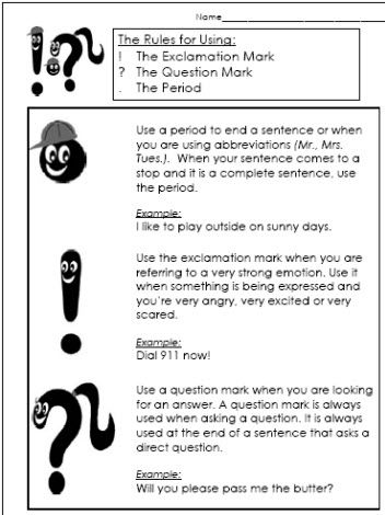 ... | ELA | Pinterest | How to use, Exclamation mark and Worksheets