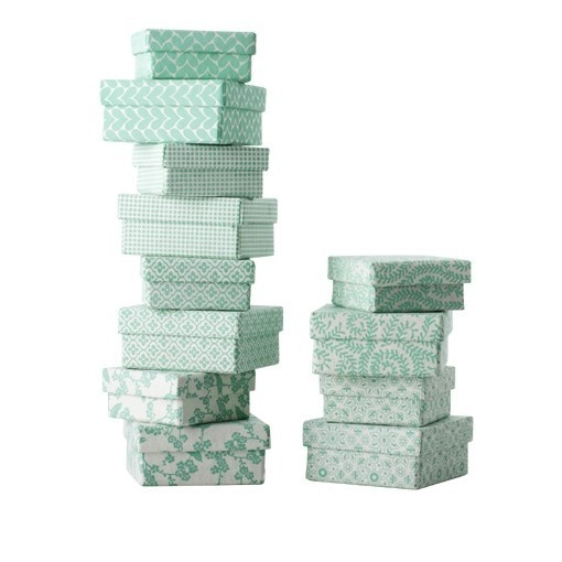 Bungalow - BOXES - long & mini, printed