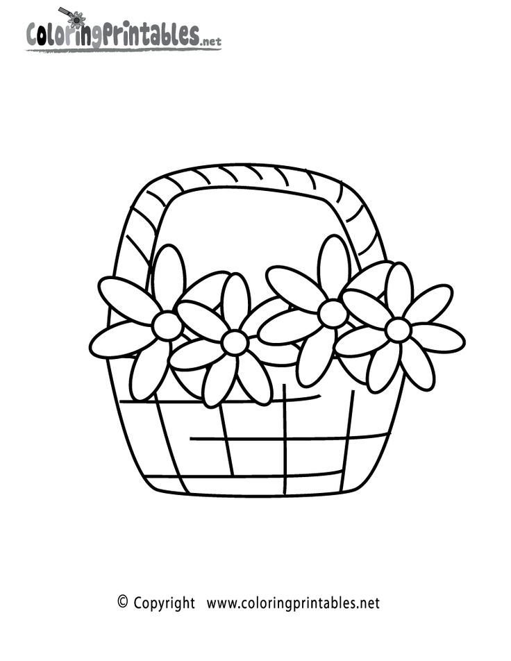 coloring flowers basket coloring page a free nature printabl with geometric design coloring. Black Bedroom Furniture Sets. Home Design Ideas