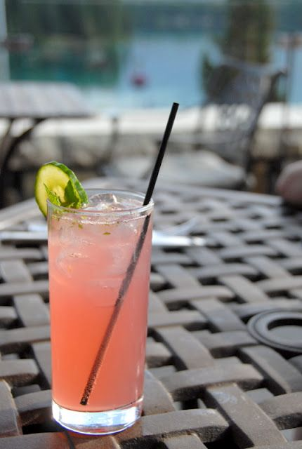 Cocktails of the Canadian Rockies: Pomegranate Cucumber Mojito (Jasper Park Lodge) | Boulder Locavore
