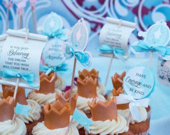 Cinderella Party Decorations Cinderella Cupcake Toppers