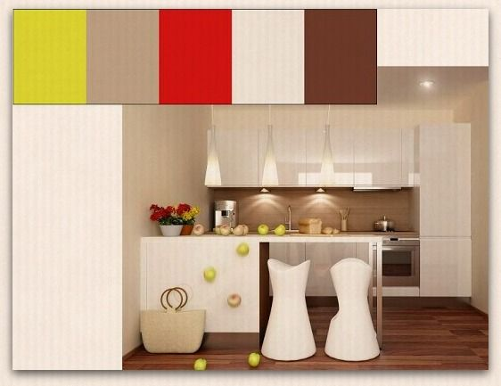 41 best el color en la cocina images on pinterest color for Disenos de cocinas pequenas