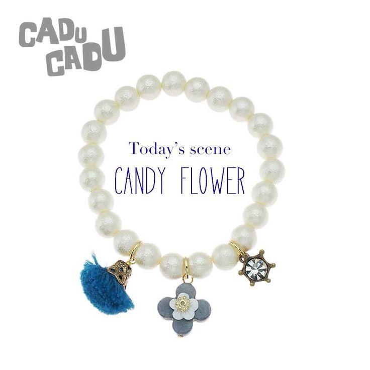 《CADU CADU Accessories》 今日のシーンは【CANDY FLOWER】 大人気のパールブレスレット¥3500+tax