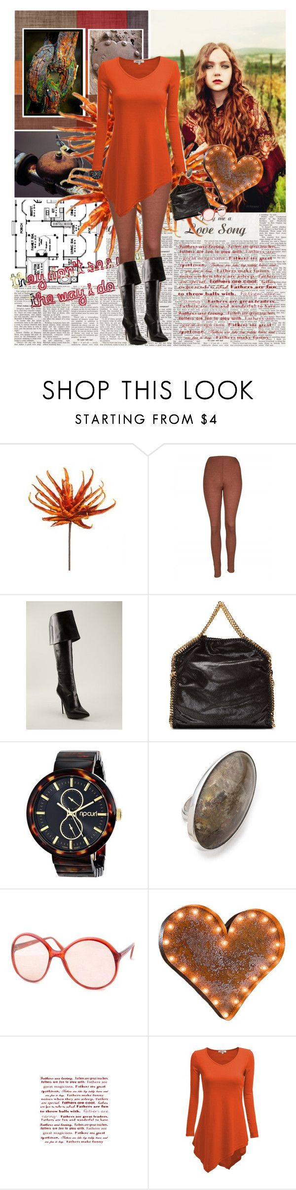 """Rusty Heart"" by valc5 ❤ liked on Polyvore featuring PlayMe Jeans, Gianmarco Lorenzi, STELLA McCARTNEY, Rip Curl, Maison Margiela, Smash Vintage, Vintage Marquee Lights and Doublju"