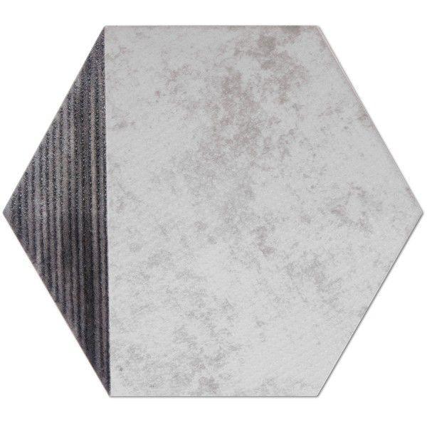 Heksagon Piramidal - płytki ścienne Dec. Piramidal Metalic Perla 17x15