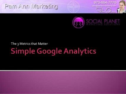 Simple Google Analytics: The 3 Metrics that Matter. Rating: 6/10