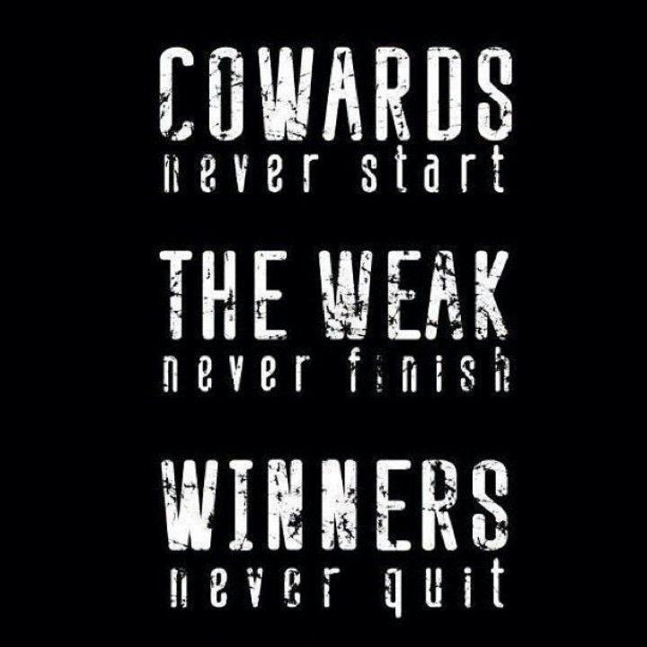 Winners never quit.