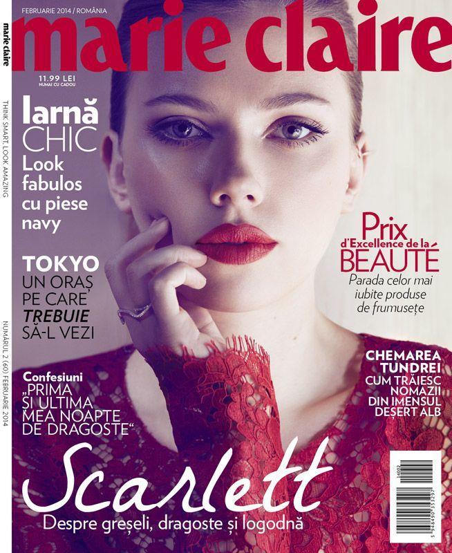 scarlett johansson marie claire magazine cover romania february 2014 magazines. Black Bedroom Furniture Sets. Home Design Ideas