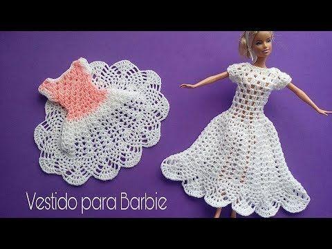Vestido para Barbie piñas - YouTube