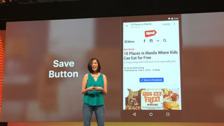 Based on a brief demo during the F8 keynote session, Facebook's Save button seems to work a lot like Instapaper and Pocket. Sites that include it on their pages will let visitors store articles, products and other media to their Facebook accounts. Then, w