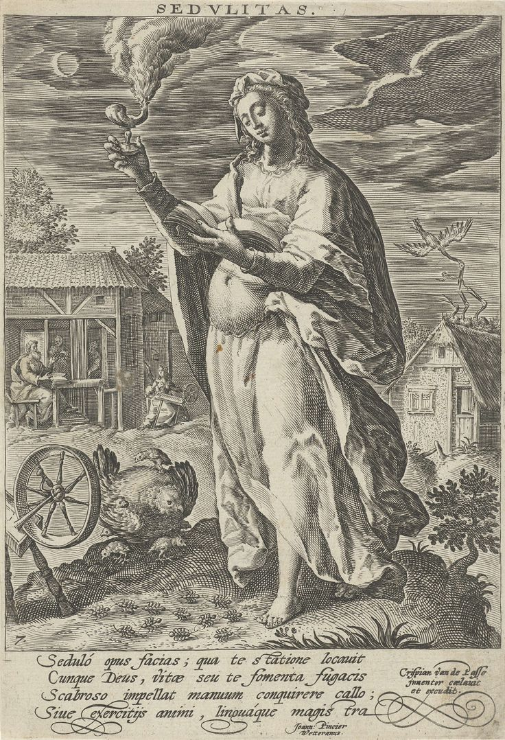 Arbeidzaamheid, Crispijn van de Passe (I), 1589