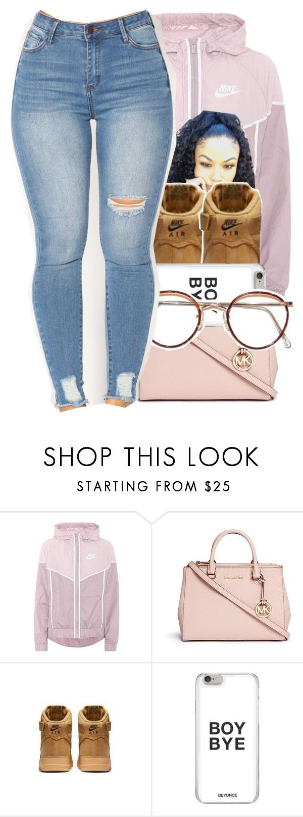 """""""had the worst day """" by blqckfinity ❤ liked on Polyvore featuring NIKE and Michael Kors"""