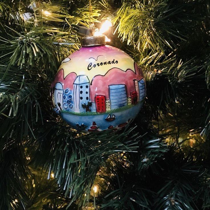 Coronado Christmas Ornament California 3D Ceramic Dodgers Travel Beach Souvenir #Coronado #GlassOrnaments