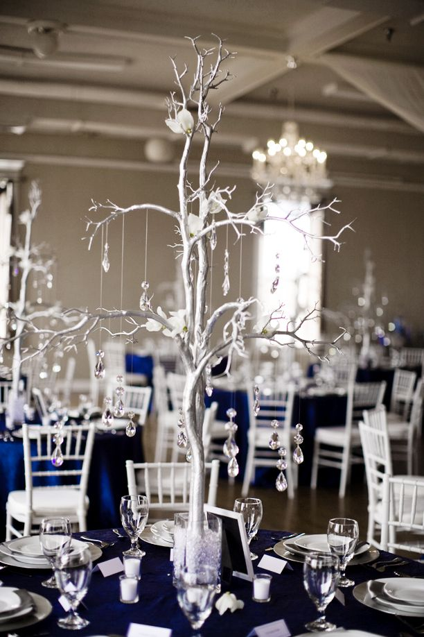 Navy Blue Silver Wedding Centerpieces: Centerpieces navy blue ...