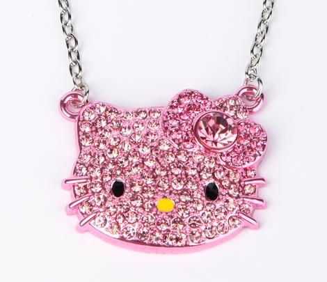 Hello Kitty Die-Cut Necklace: PINK GOLD!!! Perfect match for the ring...$48