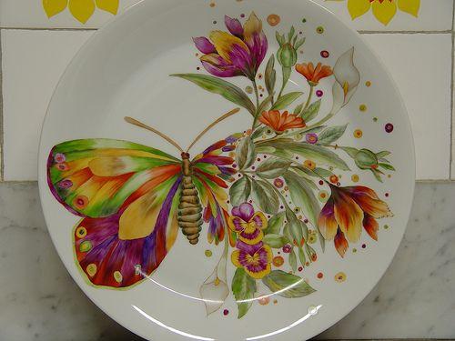 Mariposa multicolor.