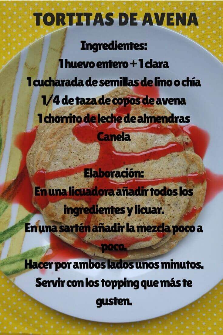 TORTITAS DE AVENA FACILES PINTEREST