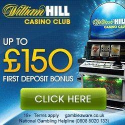 William Hill online casino new player bonus UK