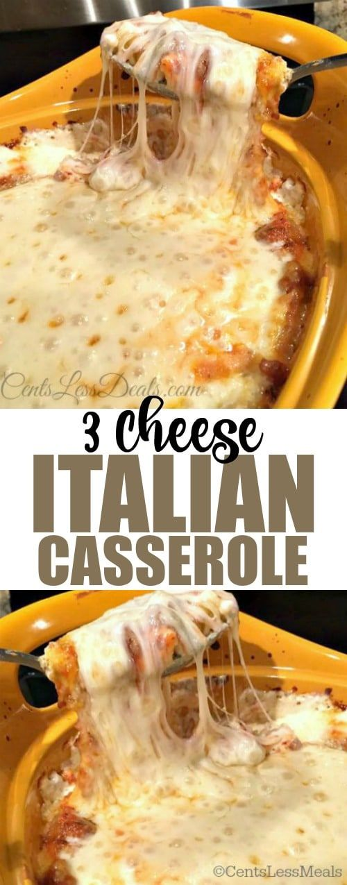 This quick and easy 3 Cheese Italian Casserole is a close runner up to traditional lasagna.  It will become your family's favorite!