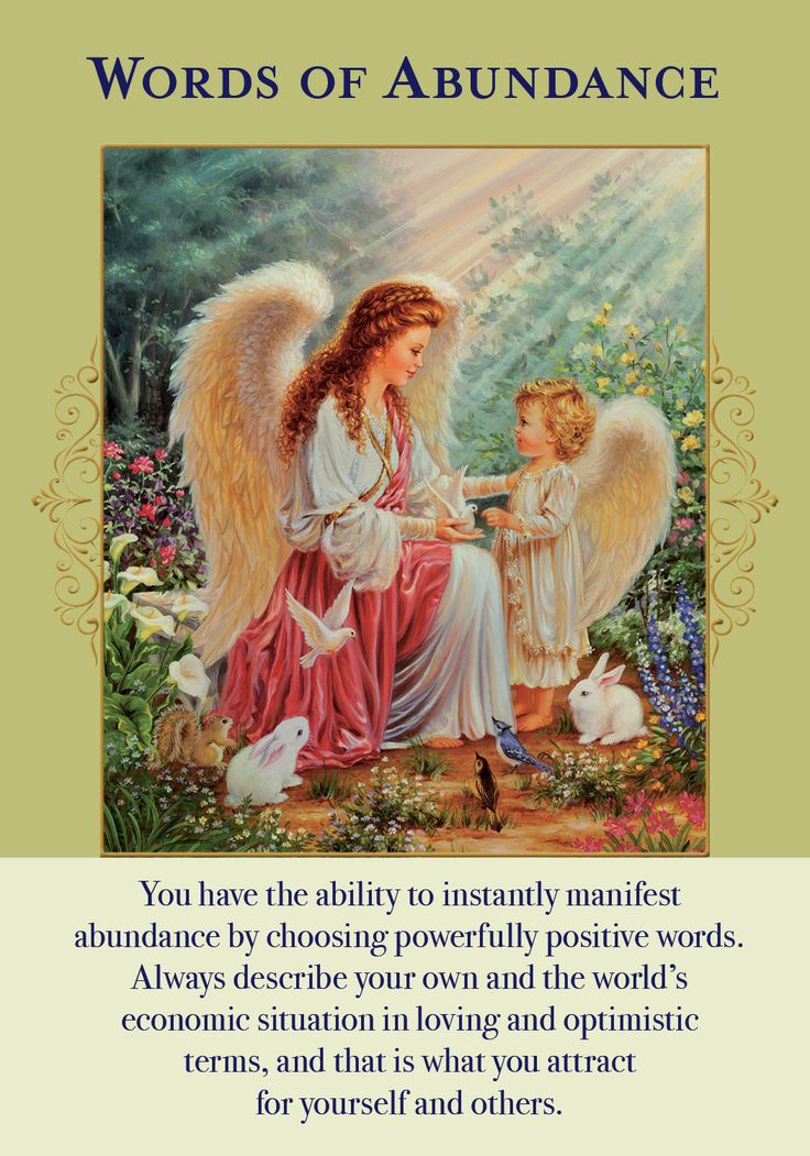 Oracle Card Words Of Abundance | Doreen Virtue - Official Angel Therapy Website
