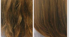 how to get split ends out of layers