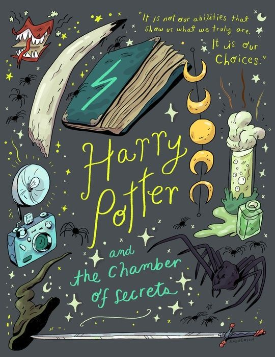 Harry Potter and the Chamber of Secrets, an art print by Natalie Andrewson