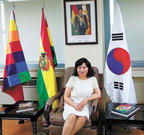Legación. Palomeque en la Embajada de Bolivia en Corea del Sur, ubicada en la capital coreana.