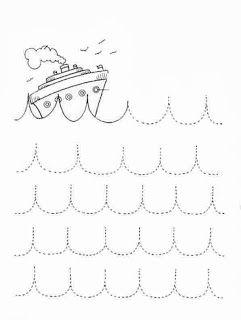 boot golfjes tekenen schrijfoefening