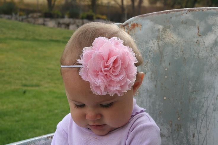 15% OFF, Baby Headbands, Baby Girl Headband, Baby Bows Headband, Infant Headband, Burlap Headband, Adult Headband, Pink Headband. $9.00, via Etsy.