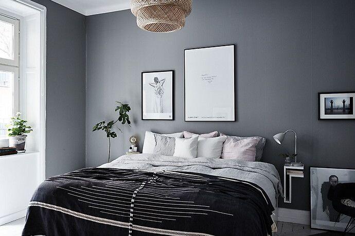 Bilder, Sovrum, Säng, Svart, fikonträd, Grå, Modernt - Hemnet Inspiration