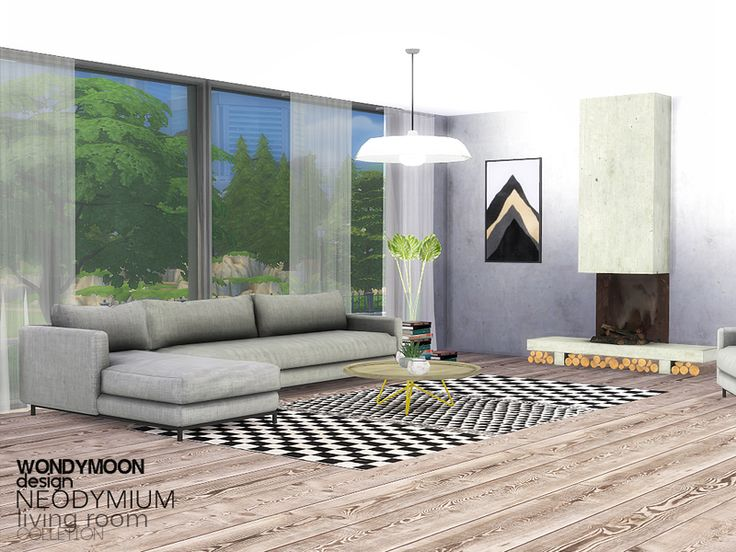 - Neodymium Living Room  Found in TSR Category 'Sims 4 Living Room Sets'